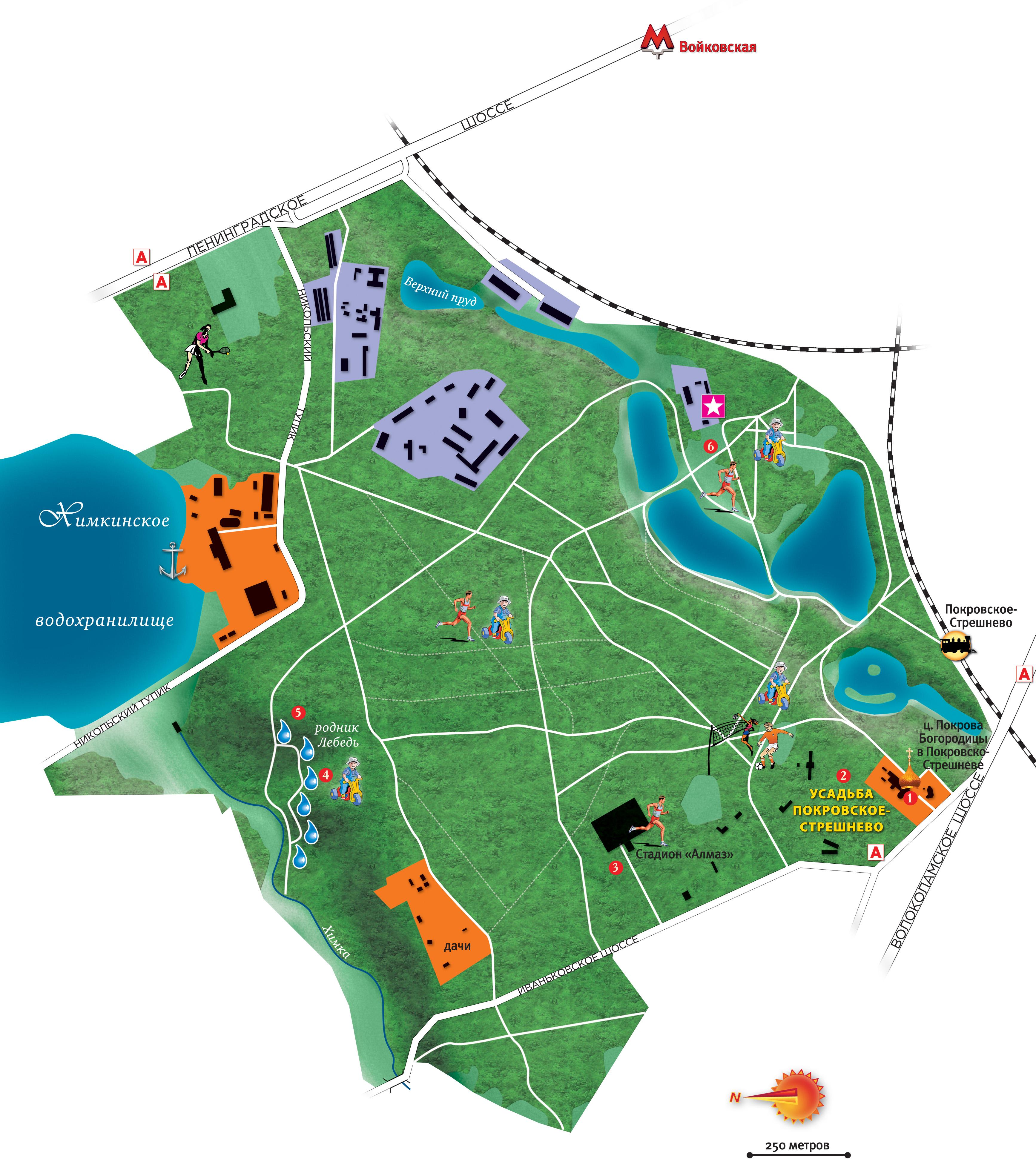 Парк кусково схема парка фото 350